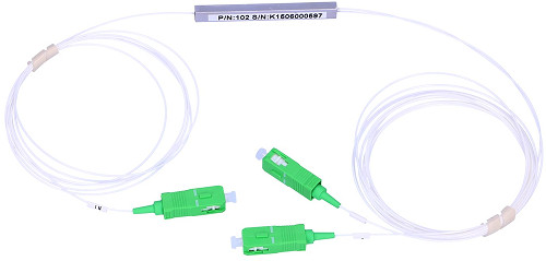 Wide image for Splitter optic PLC SC/APC 1:2 Ø 900µm 1.5m
