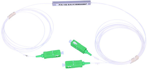 Splitter optic PLC SC/APC 1:2 Ø0.9mm 1m